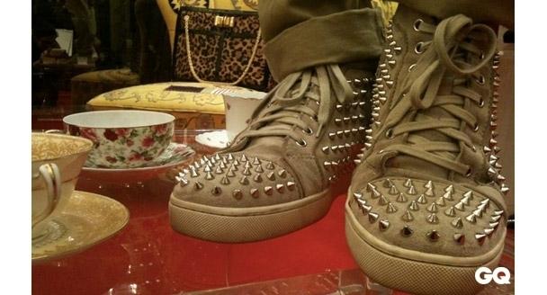 louboutin的红底男鞋