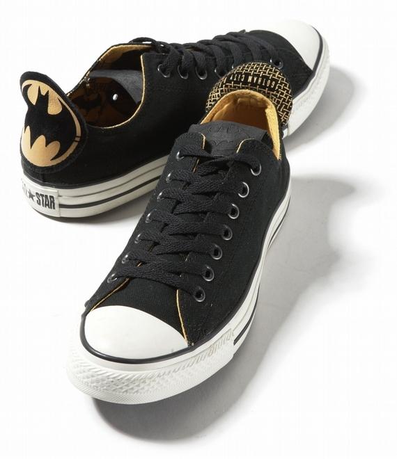 黑色蝙蝠侠logo帆布鞋
